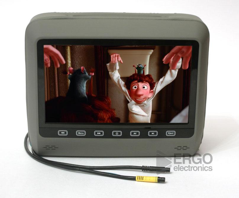 Подголовник со встроенным DVD плеером и LCD монитором 9