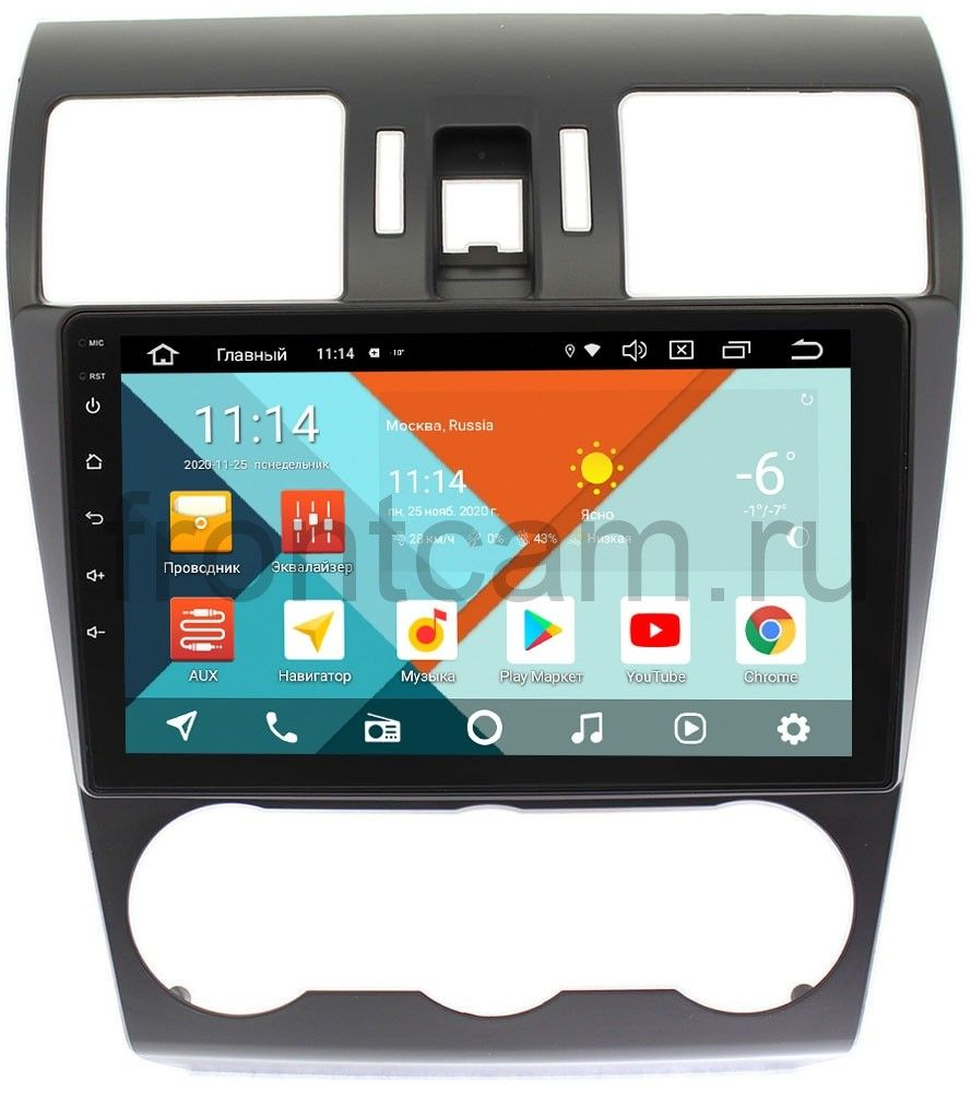 Штатная магнитола Subaru Forester IV, Impreza IV, XV I Wide Media KS9036QR-3/32 DSP CarPlay 4G-SIM на Android 10 (+ Камера заднего вида в подарок!)