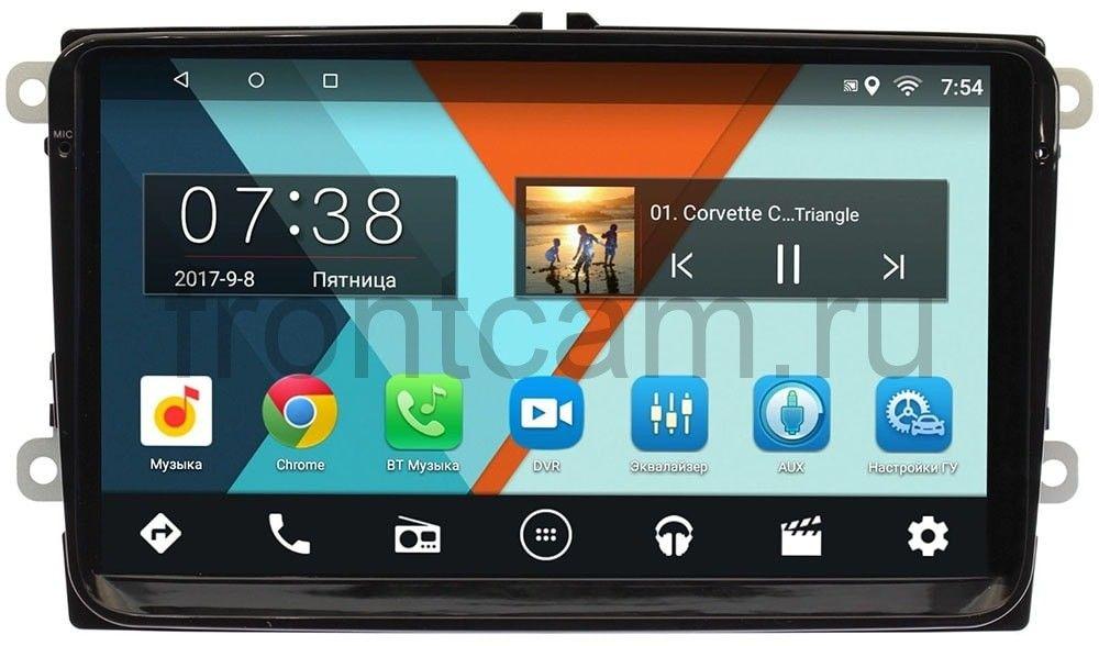 Штатная магнитола Skoda Fabia, Superb, Rapid, Octavia, Yeti 2014+ Wide Media MT9001bNF (для авто с новой проводкой) на Android 7.1.1 (2/16) (+ Камера заднего вида в подарок!)
