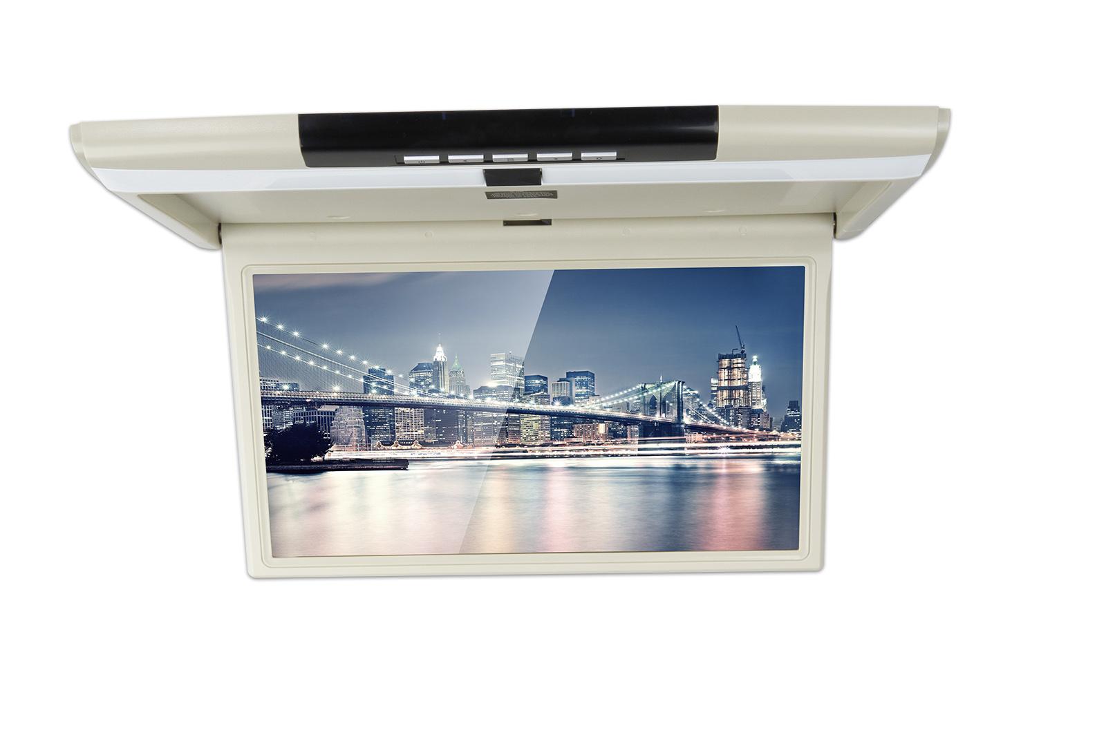 Автомобильный потолочный монитор 17.3 с медиаплеером FarCar-Z002 (серый)