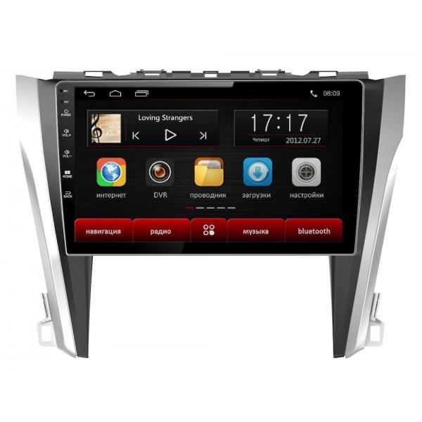 Головное устройство Subini TOY102 с экраном 10,2 для Toyota Camry 2015-2017 (+ Камера заднего вида в подарок!) автомагнитола subini toy102 10 2 toyota camry 2015 2017