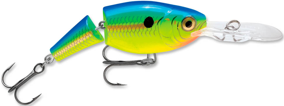 Воблер суспендер Rapala Jointed Shad Rap JSR04-PRT (1,2м-1,8м, 4 см 5 гр) camp safety rope adjuster 3 м 0986