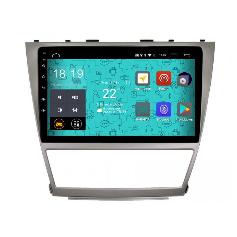 Штатная магнитола Parafar 4G/LTE с IPS матрицей для Toyota Camry v40 2006-2011 на Android 7.1.1 (PF064) (+ Камера заднего вида в подарок!)