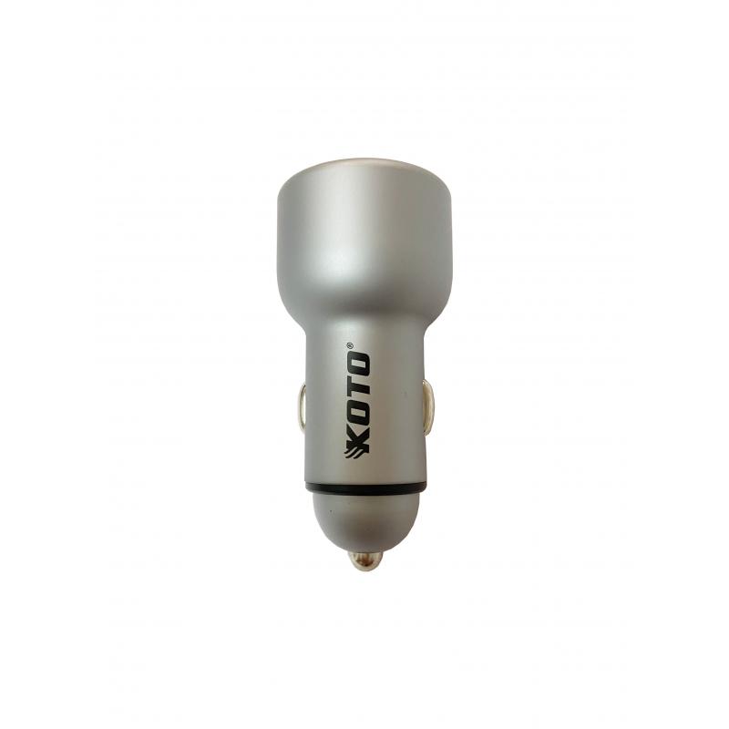 цена на Автомобильное зарядное устройство KOTO KTU07427 DUAL USB (2-USB,12/24В)