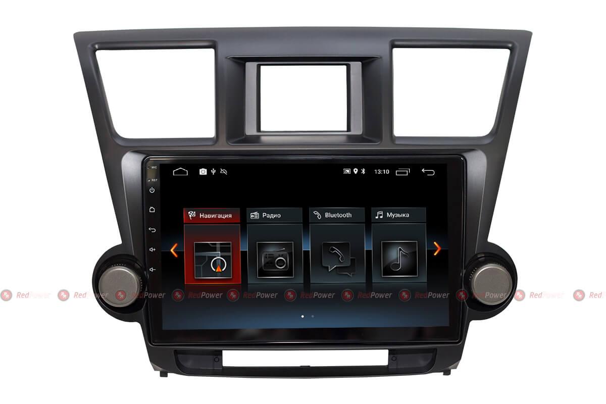 Автомагнитола Redpower 30035 IPS Toyota Highlander II U40 (2007-2013) (+ Камера заднего вида в подарок!)
