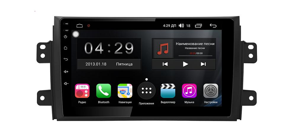 Штатная магнитола FarCar s300-SIM 4G для Suzuki Sx-4 на Android (RG124R) (+ Камера заднего вида в подарок!)