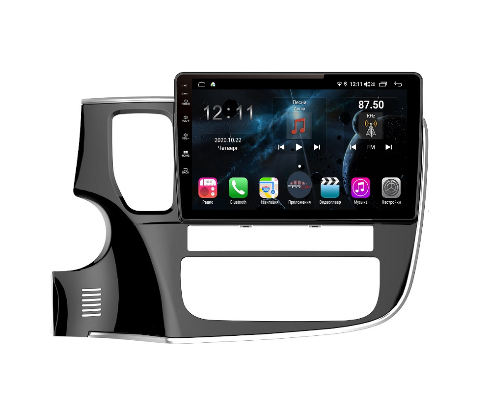 Штатная магнитола FarCar s400 для Mitsubishi Outlander на Android (H1006R) (+ Камера заднего вида в подарок!)