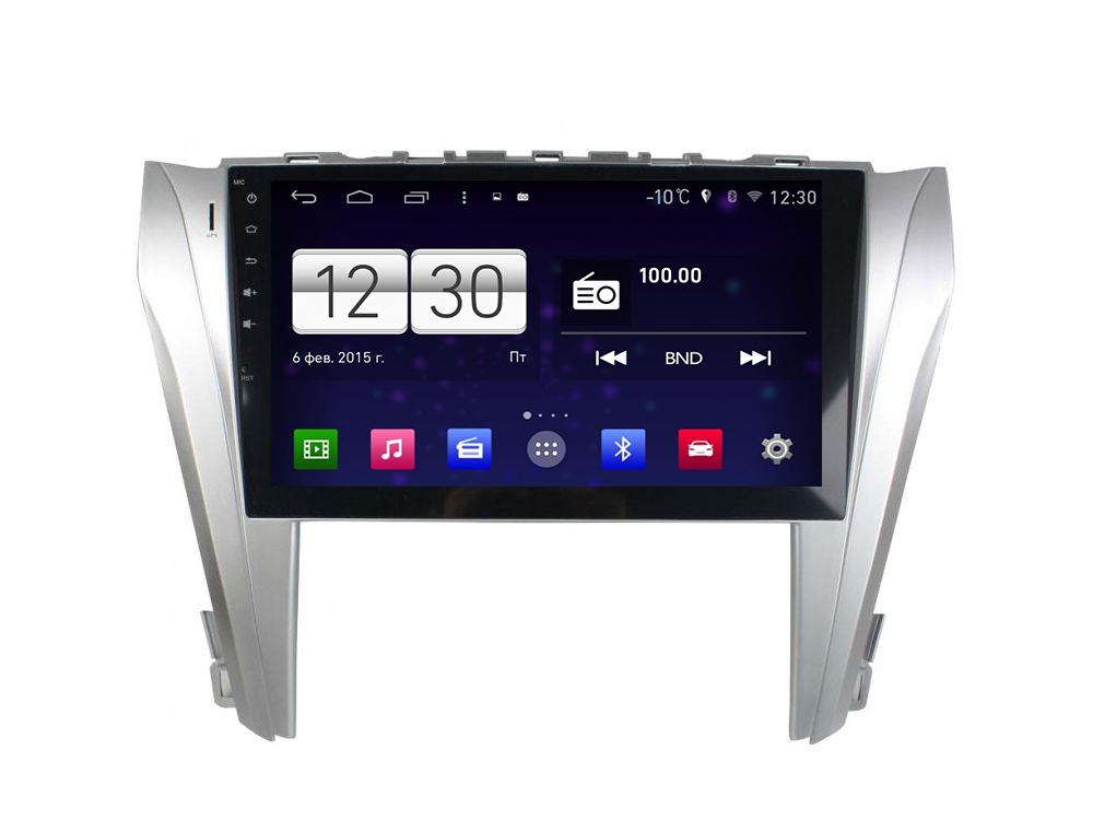 Комплект штатной магнитолы + видеорегистратор FarCar s160 для Toyota Camry 2014+ на Android (M466+v005) (+ Камера заднего вида в подарок!)