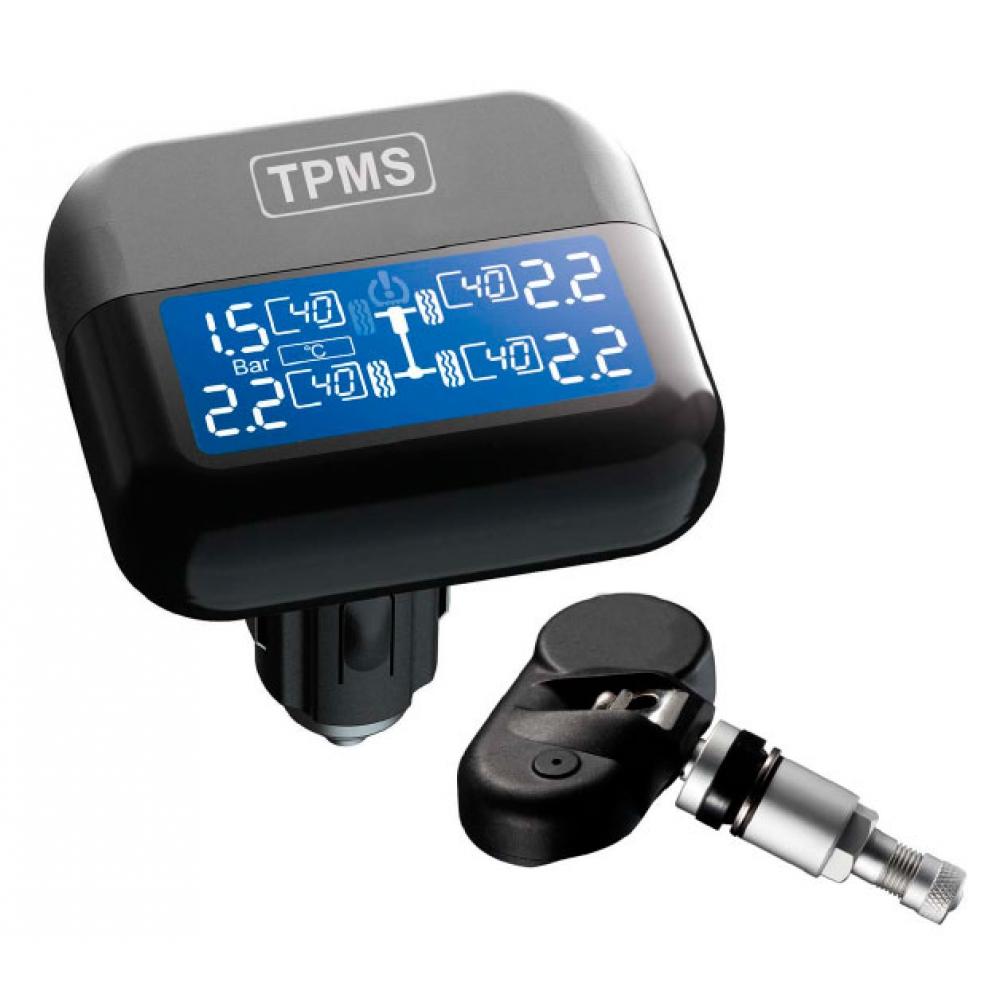 Система контроля давления и температуры в шинах ParkMaster TPMaSter TPMS 4-03 (4 внутренних датчика, монитор в прикуриватель)