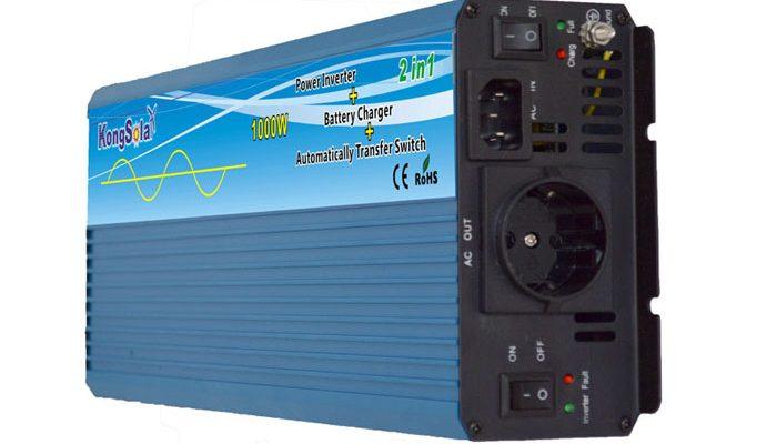 Преобразователь напряжения KongSolar KPC12/1000 с функцией зарядки (ИБП, реальный синус)