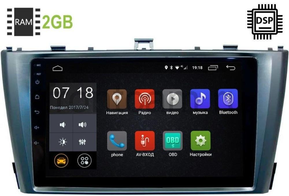 Штатная магнитола Toyota Avensis III 2009-2015 LeTrun 3017-2986 Android 9.0 9 дюймов (DSP 2/16GB) (+ Камера заднего вида в подарок!)