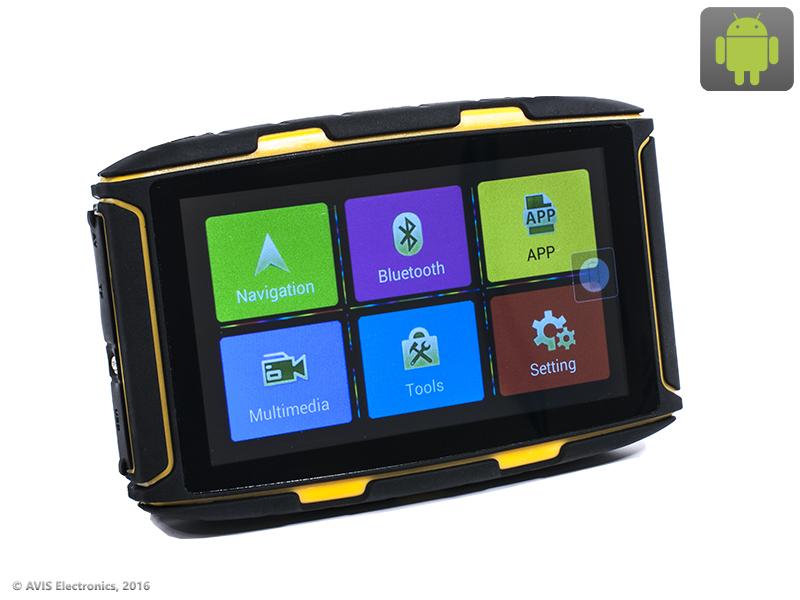 Навигатор для мотоцикла Avis DRC050A с экраном 5 Android