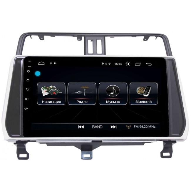 Штатная магнитола LeTrun 2444 для Toyota Land Cruiser Prado 150 2017-2019 Android 8.0.1 MTK-L 2Gb компьютерные аксессуары oem 5pcs ipad wifi 3g gps