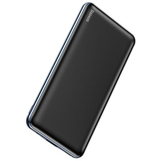 Портативное зарядное устройство Baseus Simbo power bank 10000mAh (T+IP input /T+U output 5V 3A 50cm Type c cable) Черный