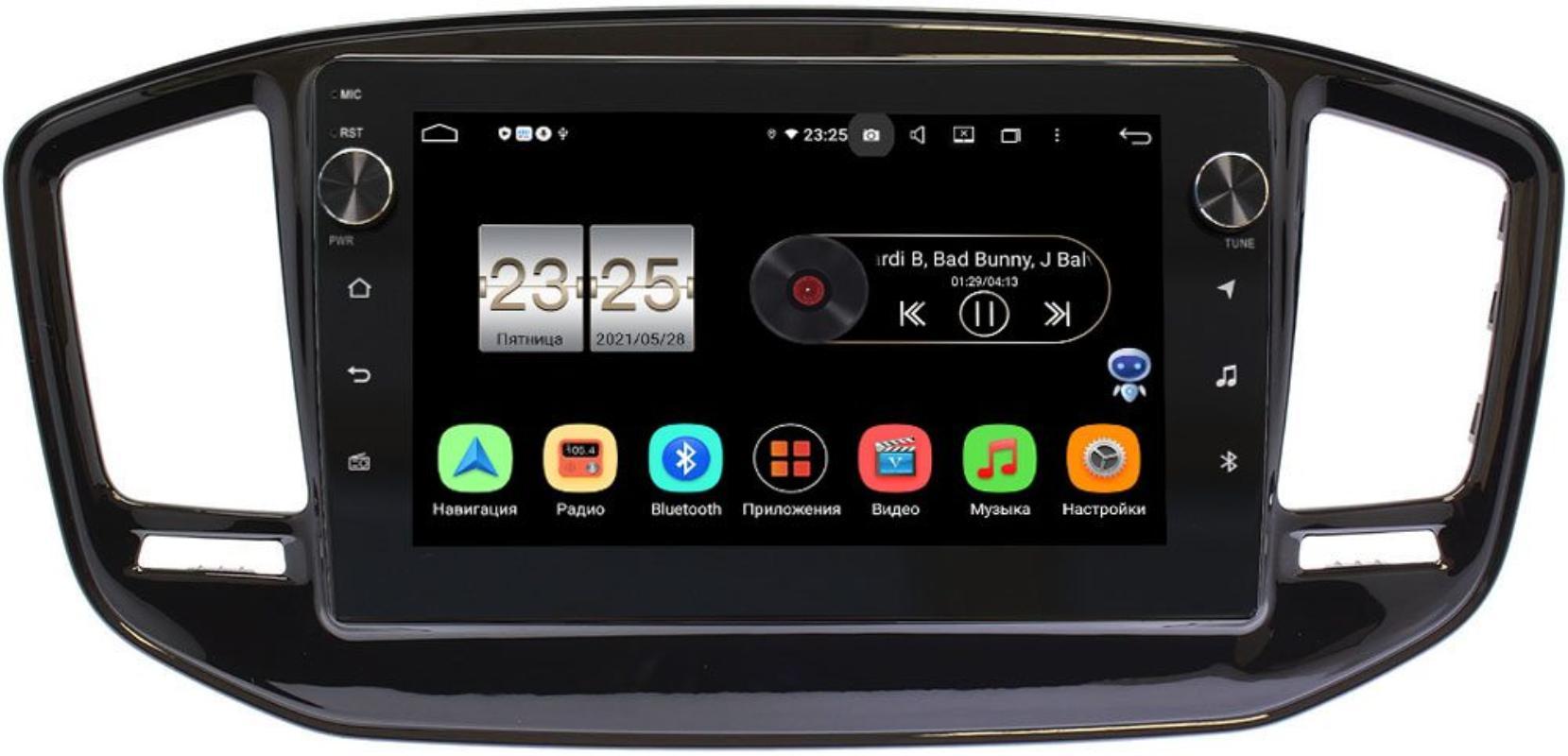 Штатная магнитола Geely Emgrand X7 2011-2018 LeTrun BPX409-EmgrandX7 на Android 10 (4/32, DSP, IPS, с голосовым ассистентом, с крутилками) (+ Камера заднего вида в подарок!)