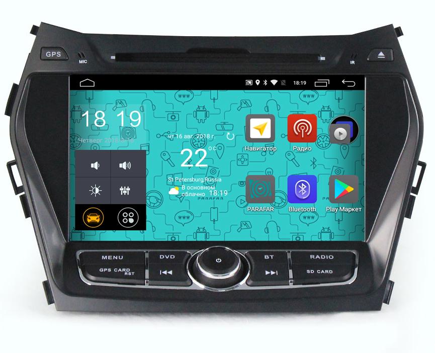 Штатная магнитола Parafar 4G/LTE для Hyundai Santa Fe 3 2012+ c DVD на Android 7.1.1 (PF209D) (+ Камера заднего вида в подарок!) александр генис довлатов и окрестности передача первая последнее советское поколение