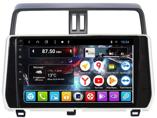 Штатная магнитола DayStar DS-7109HB Toyota Prado 150 2018+ Android  (8 ядер, 2Gb ОЗУ, 32Gb памяти) (+ Камера заднего вида в подарок!)