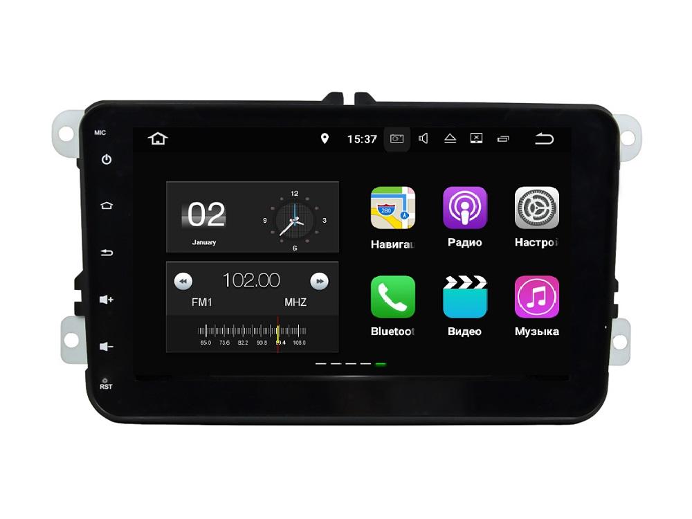 Штатная магнитола FarCar s130+ для Volkswagen, Skoda Universal на Android 7.1 (W904) farcar s130 hyundai solaris 2010 android r067