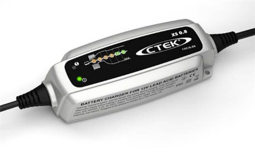 Зарядное устройство Ctek XS 0.8 (6 этапов, 1,2-100Aч, 12В) индикатор состояния акб с круглыми клеммами м6 ctek 56 629
