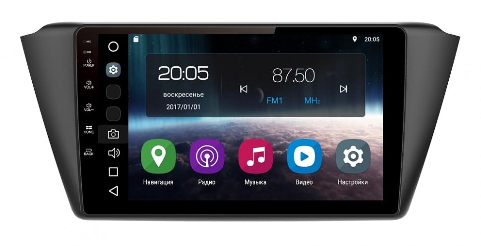 Штатная магнитола FarCar s200 для Skoda Fabia 2015+ на Android (V2002R) car light for skoda fabia mk2 facelift 2011 2012 2013 2014 2015 car styling front halogen fog light fog light driver left side