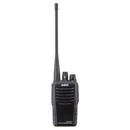 Рация Alinco DJ-VX11Alinco<br>Alinco DJ-VX11 новейшая канальная радиостанция от производителя. Как всегда рация выполнена из качественных материалов, корпус из прочного пластика, каркас из алюминия. Мощность передатчика составляет 5 Ватт, есть возможность её регулировки в четырёх диапазонах. DJ-VX11 работает на частотах 136-174 МГц, они более приспособлены для леса и открытой местности. В модели предусмотрено 128 частотных каналов, 8 групп по 16 в каждой.