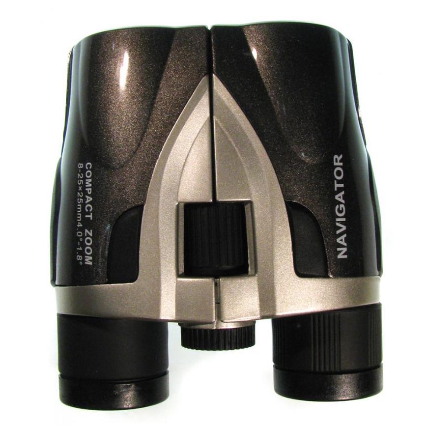 Бинокль Navigator 8-25х25, серебристо-серый (+ Антисептик-спрей для рук в подарок!)