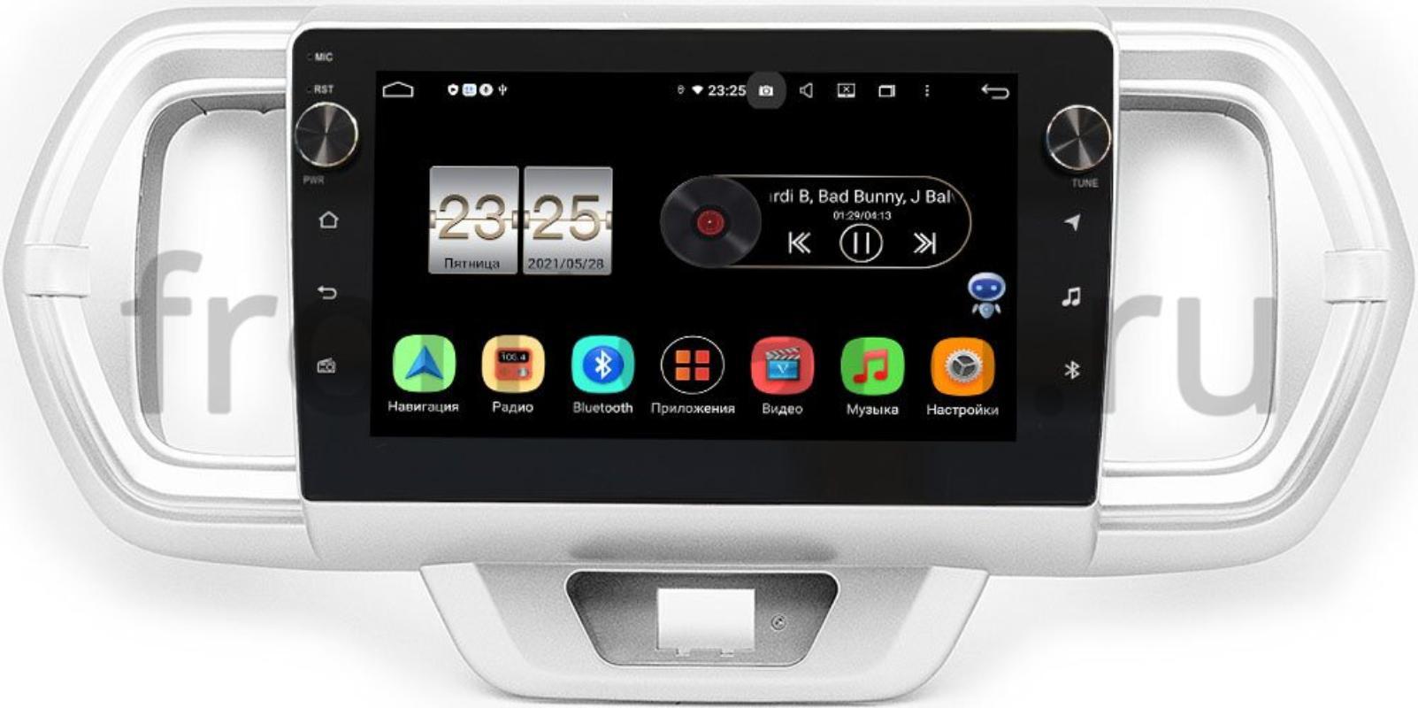Штатная магнитола Toyota Passo III 2016-2021 LeTrun BPX409-1056 на Android 10 (4/32, DSP, IPS, с голосовым ассистентом, с крутилками) (+ Камера заднего вида в подарок!)
