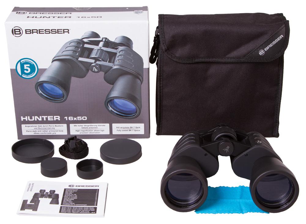 Бинокль Bresser Hunter 16x50 (+ Салфетки из микрофибры в подарок) цена и фото