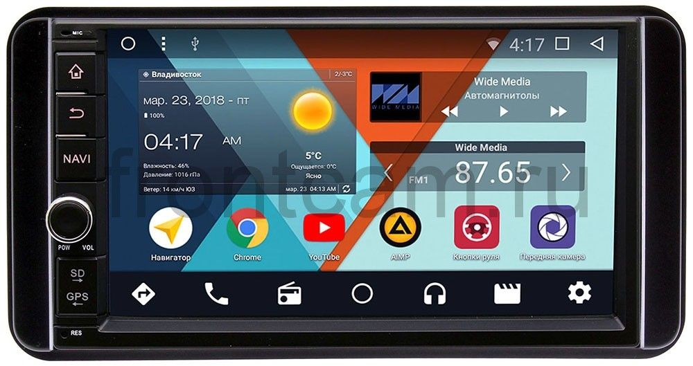 Штатная магнитола Wide Media WM-VS7A706NB-2/16-RP-TYUNC-43 для Toyota универсальная Android 7.1.2 штатная магнитола wide media wm vs7a706nb rp bmx5c 21 для bmw 7 e38 5 e39 m5 e39 x5 e53 android 7 1 2