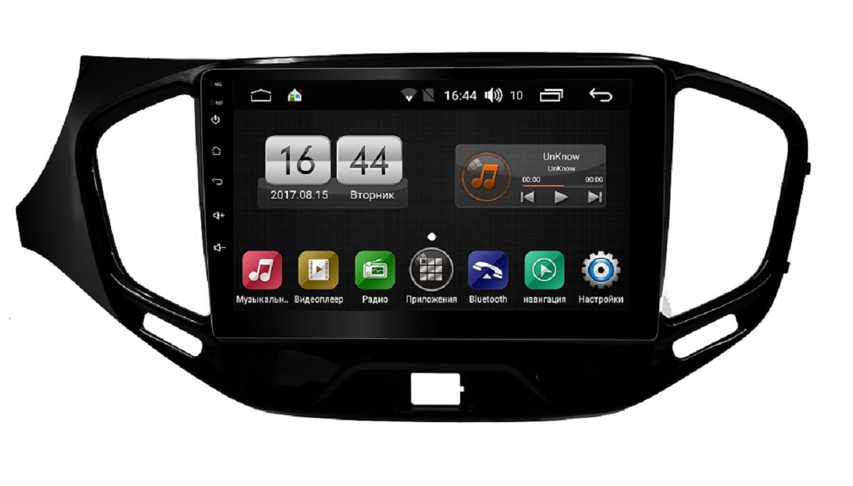 Штатная магнитола FarCar s195 для Lada Vesta на Android (LX1205R) (+ Камера заднего вида в подарок!)