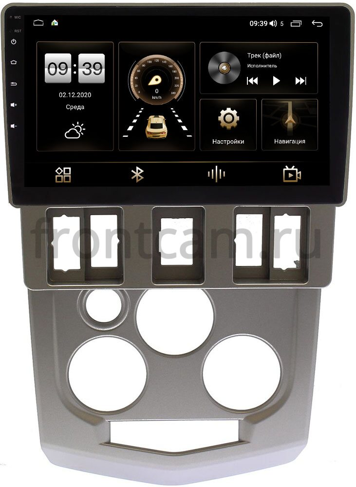 Штатная магнитола Renault Logan I 2004-2009 LeTrun 4166-9-674 на Android 10 (4G-SIM, 3/32, DSP, QLed) (+ Камера заднего вида в подарок!)