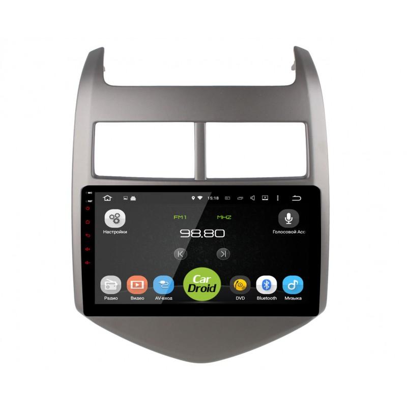 Штатная магнитола Roximo CarDroid RD-1310F Chevrolet Aveo II 2011-2018 (Android 8.0) (+ Камера заднего вида в подарок!)