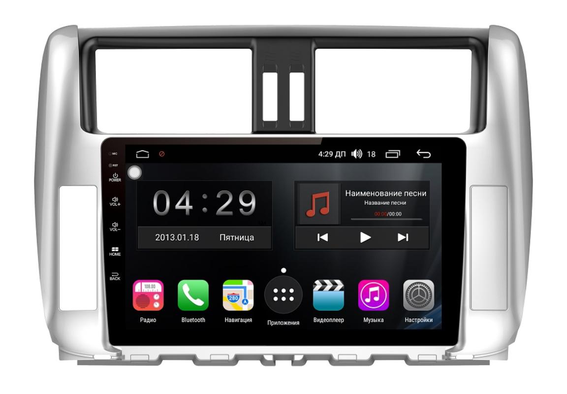 Штатная магнитола FarCar s300-SIM 4G для Toyota Land Cruiser Prado 150 2009-2013 на Android (RG065R) (+ Камера заднего вида в подарок!)
