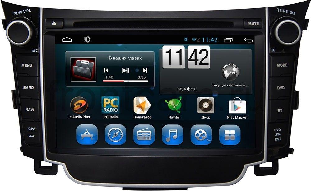 Штатная магнитола для Hyundai i30 II 2012-2017 CARMEDIA KR-7036-T8 на Android 7.1 (+ камера заднего вида) штатная магнитола carmedia nm 9040 dvd volkswagen tiguan 2007 2016 до и после рестайлинга golf plus