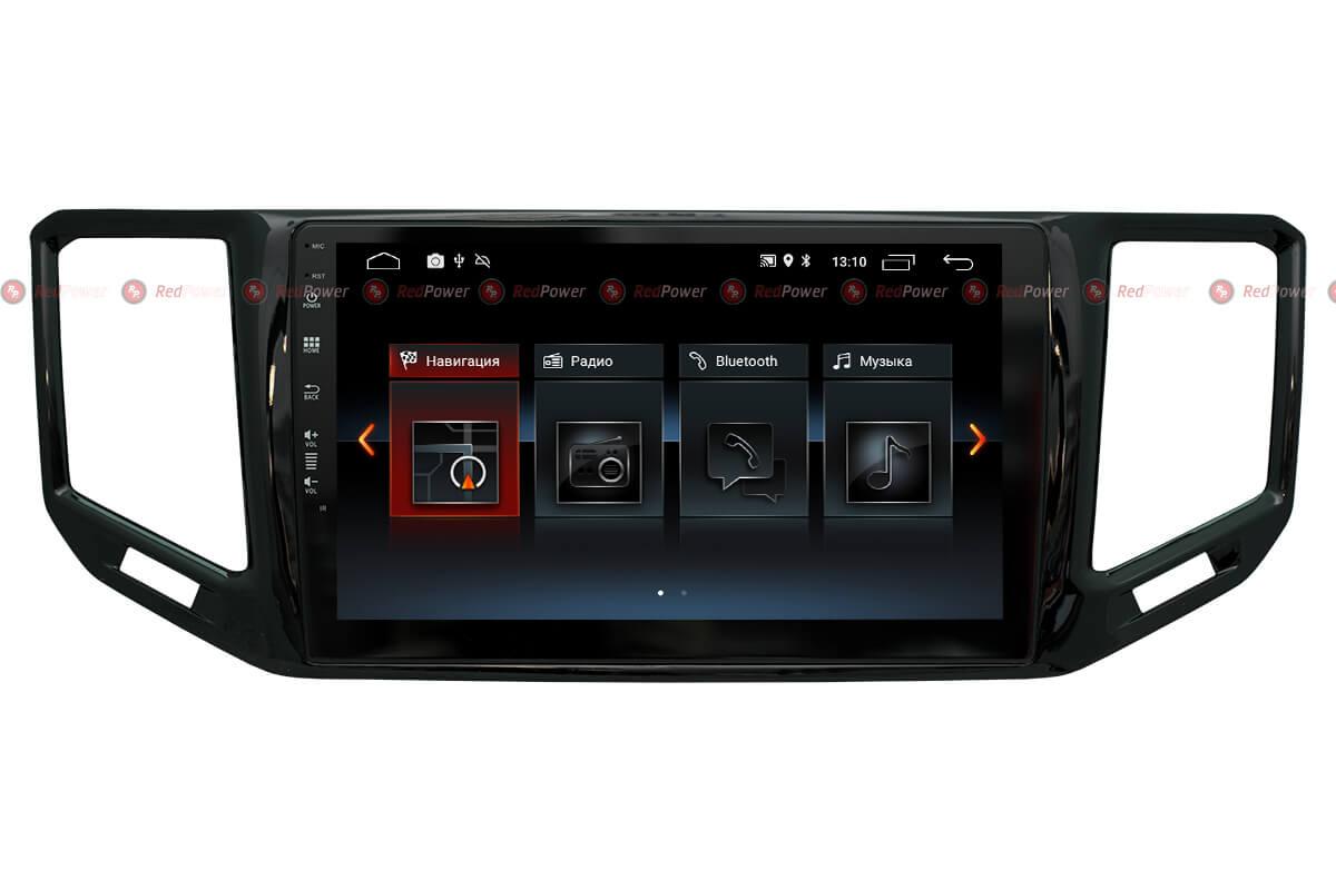Автомагнитола Redpower 30406 IPS Volkswagen Teramont (2017+) Android 8.1 (+ камера заднего вида)RedPower<br>Магнитола на 4-х ядерном процессоре с  2 Гб оперативной памяти, стекло 2.5D мультитач, приятное на ощупь с презентабельным внешним видом. Подсветка кнопок RGB.<br>На борту GPS/ГЛОНАСС модуль, есть возможность подключения к сети Интернет. Android 8.1.