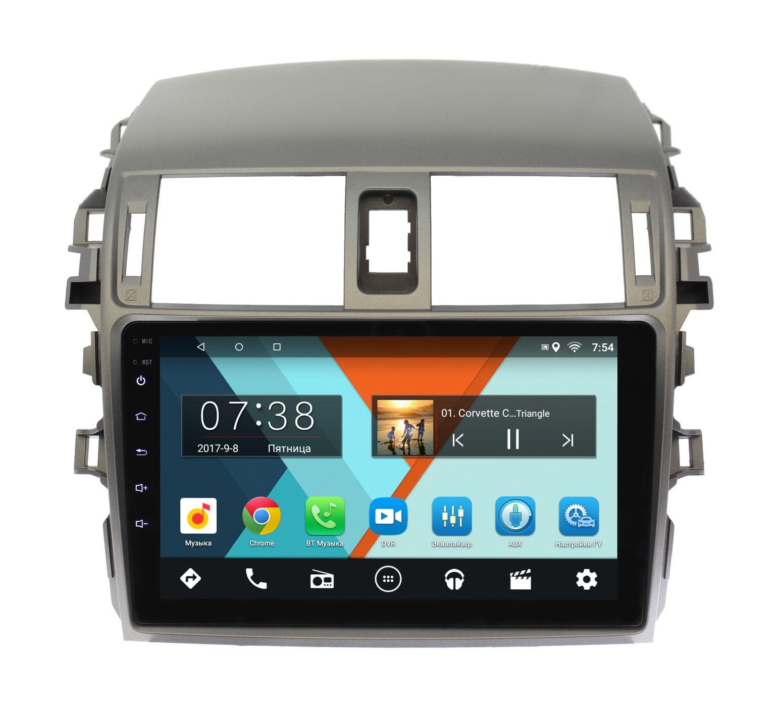 Штатная магнитола Wide Media MT9061MF для Toyota Corolla X 2006-2013 на Android 6.0.1