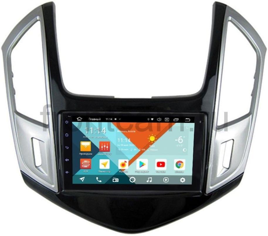Штатная магнитола Chevrolet Cruze I 2012-2015 Wide Media KS7001QR-3/32-RP-CVCRd-62 на Android 10 (DSP CarPlay 4G-SIM) (+ Камера заднего вида в подарок!)