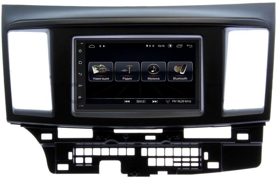 Штатная магнитола LeTrun 2159-RP-MMLNB-49 для Mitsubishi Lancer X 2007-2018 Android 8.0.1 MTK-L