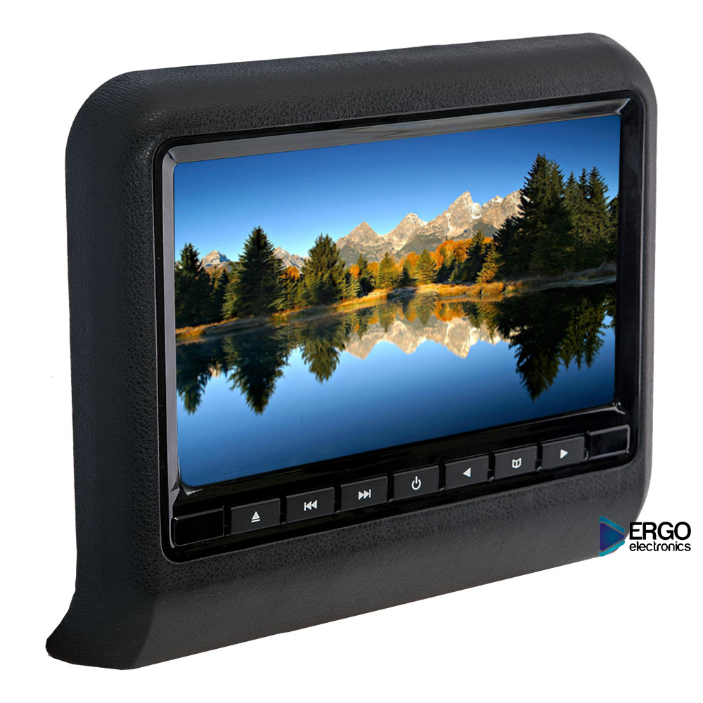 Навесной монитор ERGO ER9L Black (USB, SD, DVD)