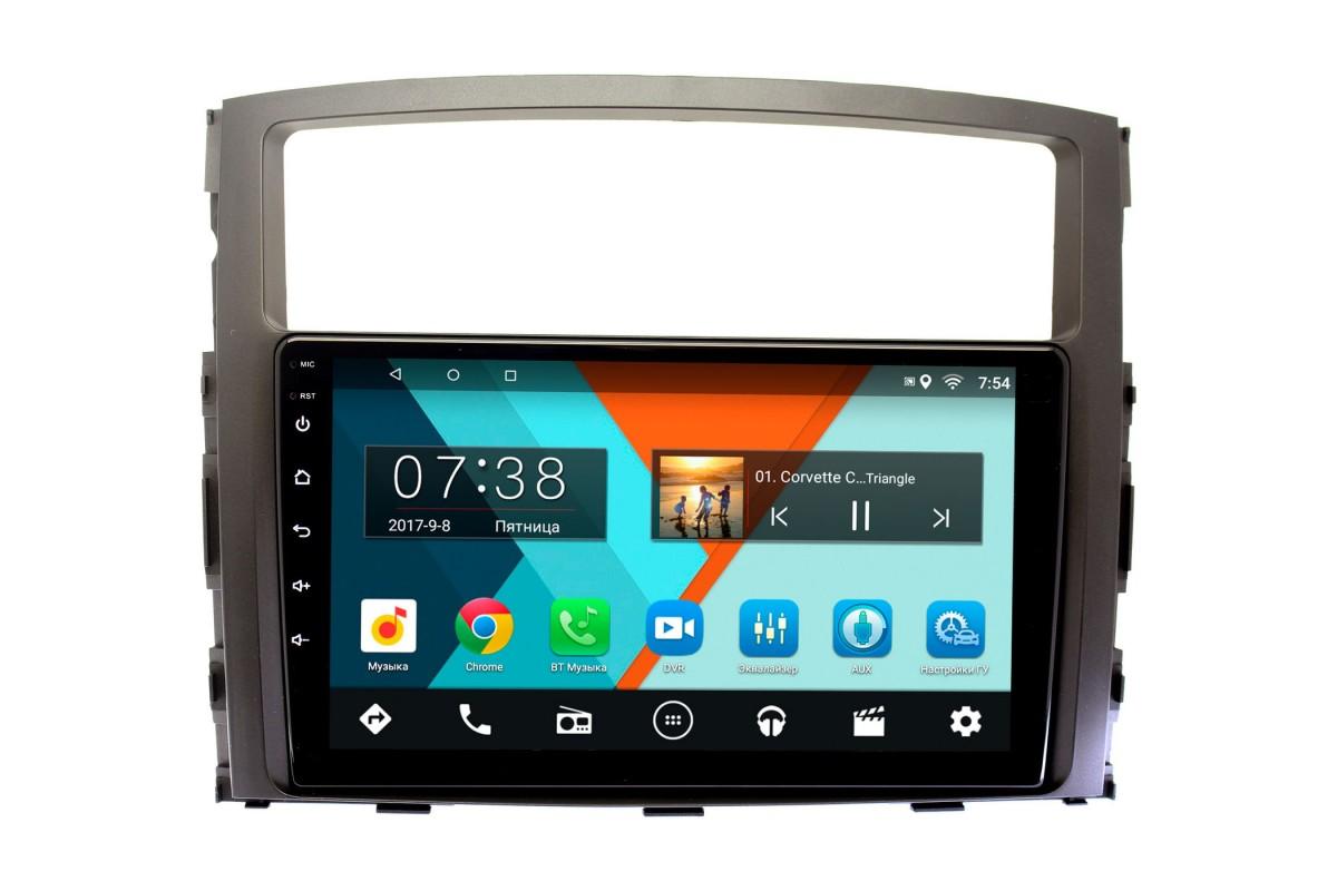 Штатная магнитола Mitsubishi Pajero IV 2006-2019 для авто с Rockford Wide Media CF9070-OM-4/64 на Android 9.1 (TS9, DSP, 4G SIM, 4/64GB) (+ Камера заднего вида в подарок!)