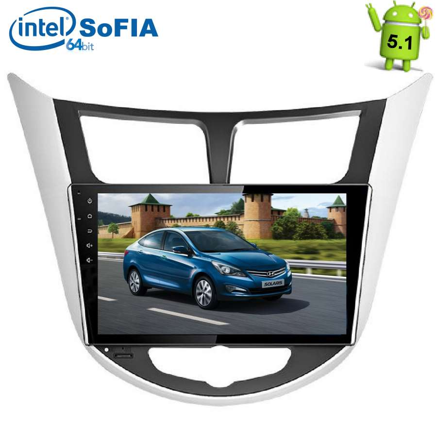 Штатная магнитола LeTrun 1595 для Hyundai Solaris Android 5.1.1 автомобильные mp4 и mp5 плееры other 12v 4 0 hd mp5 1080p fm 5v mp3 mp4 1 din