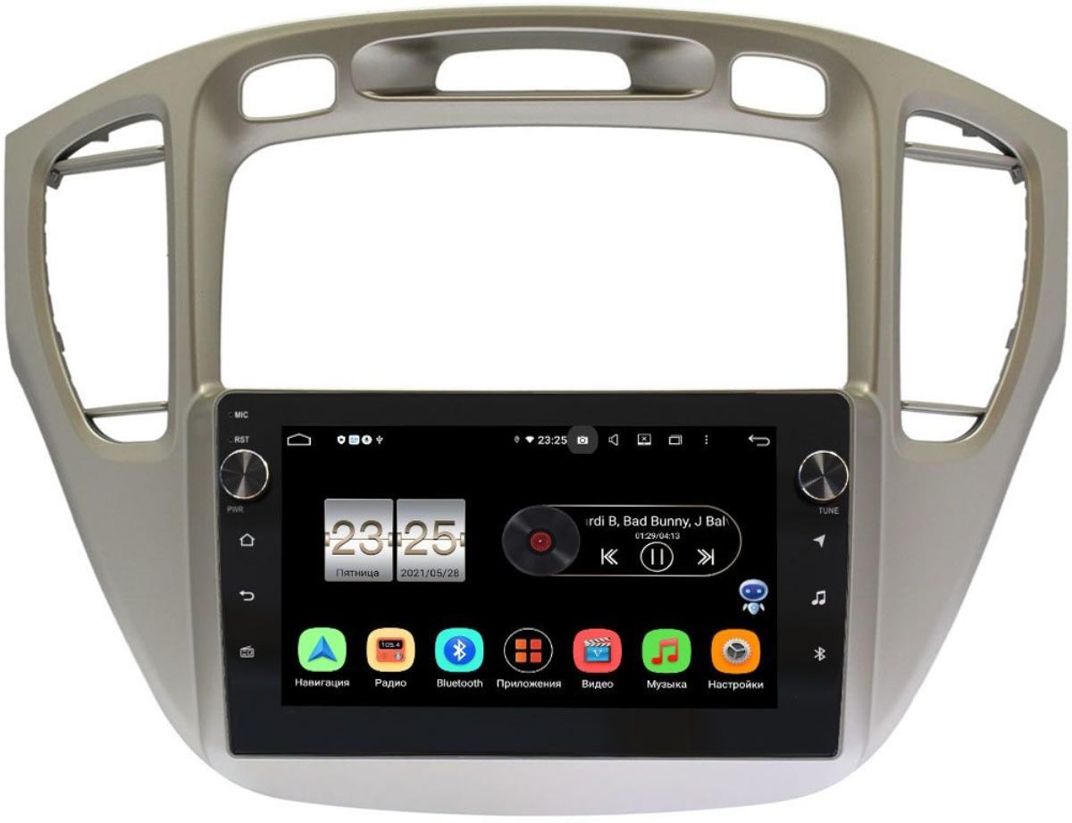 Штатная магнитола LeTrun BPX409-409 для Toyota Highlander (U20) 2001-2007 на Android 10 (4/32, DSP, IPS, с голосовым ассистентом, с крутилками) (+ Камера заднего вида в подарок!)