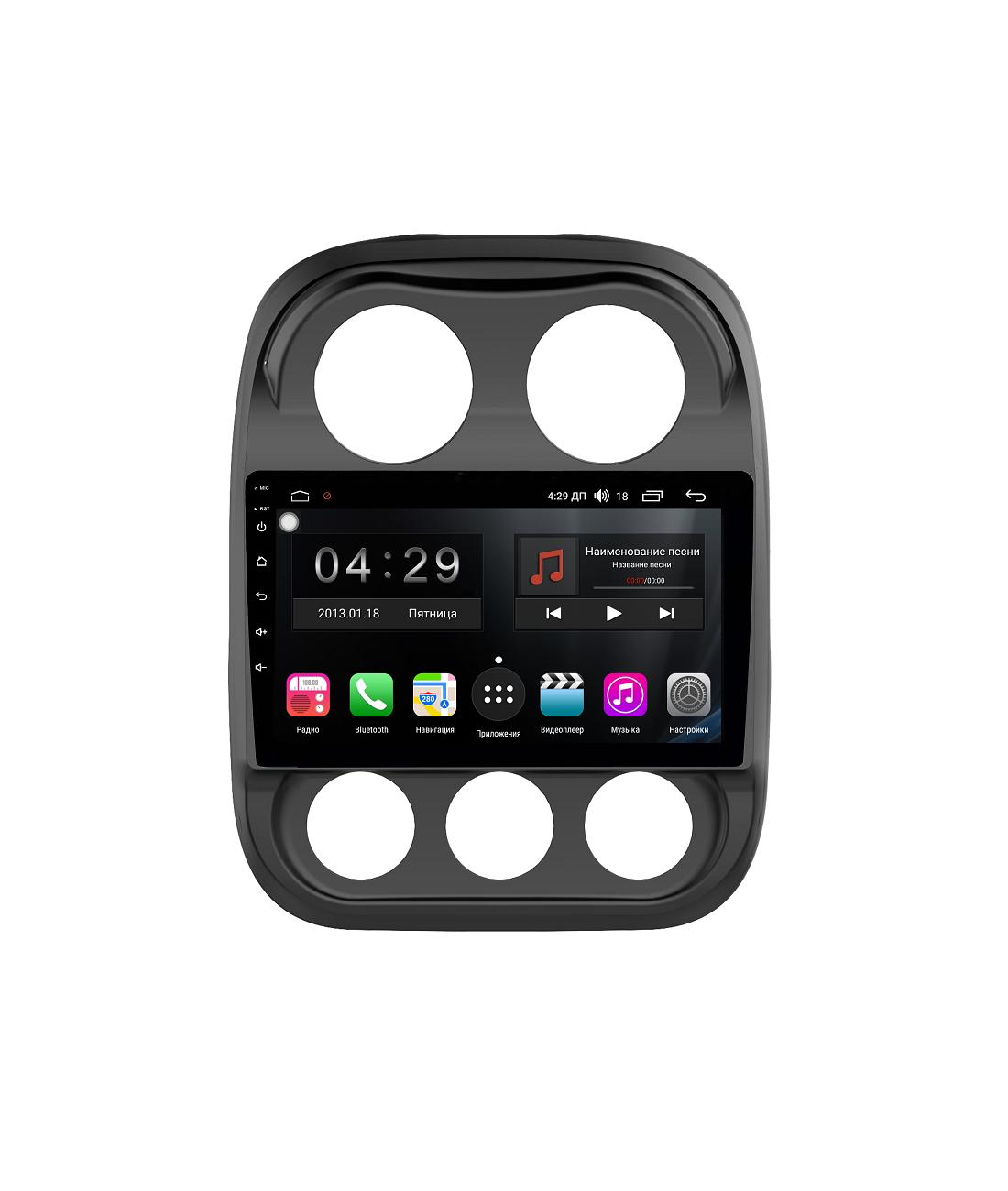 Штатная магнитола FarCar s300-SIM 4G для Jeep Compass на Android (RG1078R) (+ Камера заднего вида в подарок!)