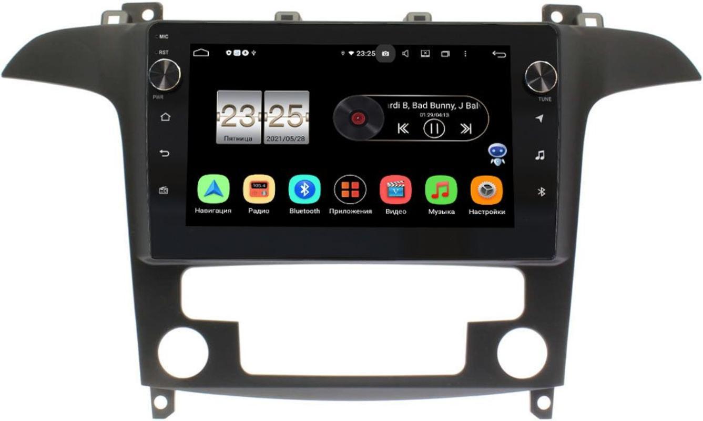 Штатная магнитола Ford S-MAX 2006-2015 (с климат-контролем) LeTrun BPX409-9486 на Android 10 (4/32, DSP, IPS, с голосовым ассистентом, с крутилками) (+ Камера заднего вида в подарок!)
