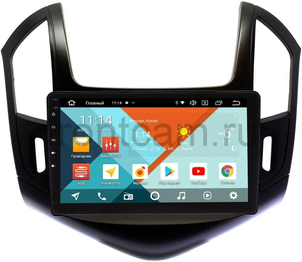 Штатная магнитола Chevrolet Cruze I 2012-2015 (черный глянец) Wide Media KS9-425QR-3/32 DSP CarPlay 4G-SIM на Android 10 (+ Камера заднего вида в подарок!)