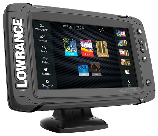 Lowrance Elite-7 Ti Mid/High/TotalScan (+ Аккумулятор + З/У + Струбцина)