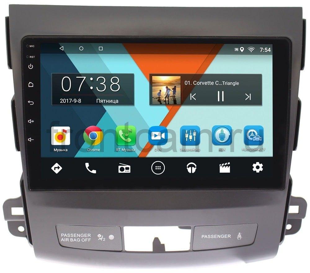 Штатная магнитола Wide Media MT9029MF-1/16 для Mitsubishi Outlander II (XL) 2006-2012 без Rockford на Android 6.0.1 штатная магнитола mitsubishi pajero iv 2006 2018 для авто с rockford wide media mt9070mf на android 6 0 1