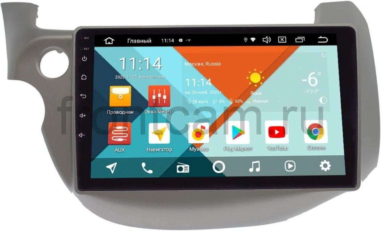 Штатная магнитола Honda Fit II, Jazz II 2008-2014 Wide Media KS1067QR-3/32 DSP CarPlay 4G-SIM на Android 10 (+ Камера заднего вида в подарок!)