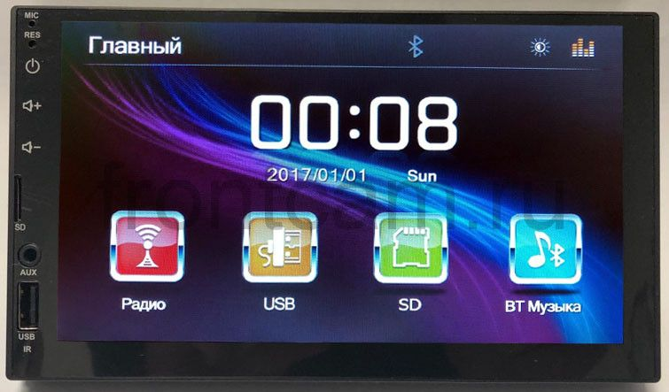 Штатная магнитола LeTrun 2246 Универсальная Bluetooth 7 дюймов