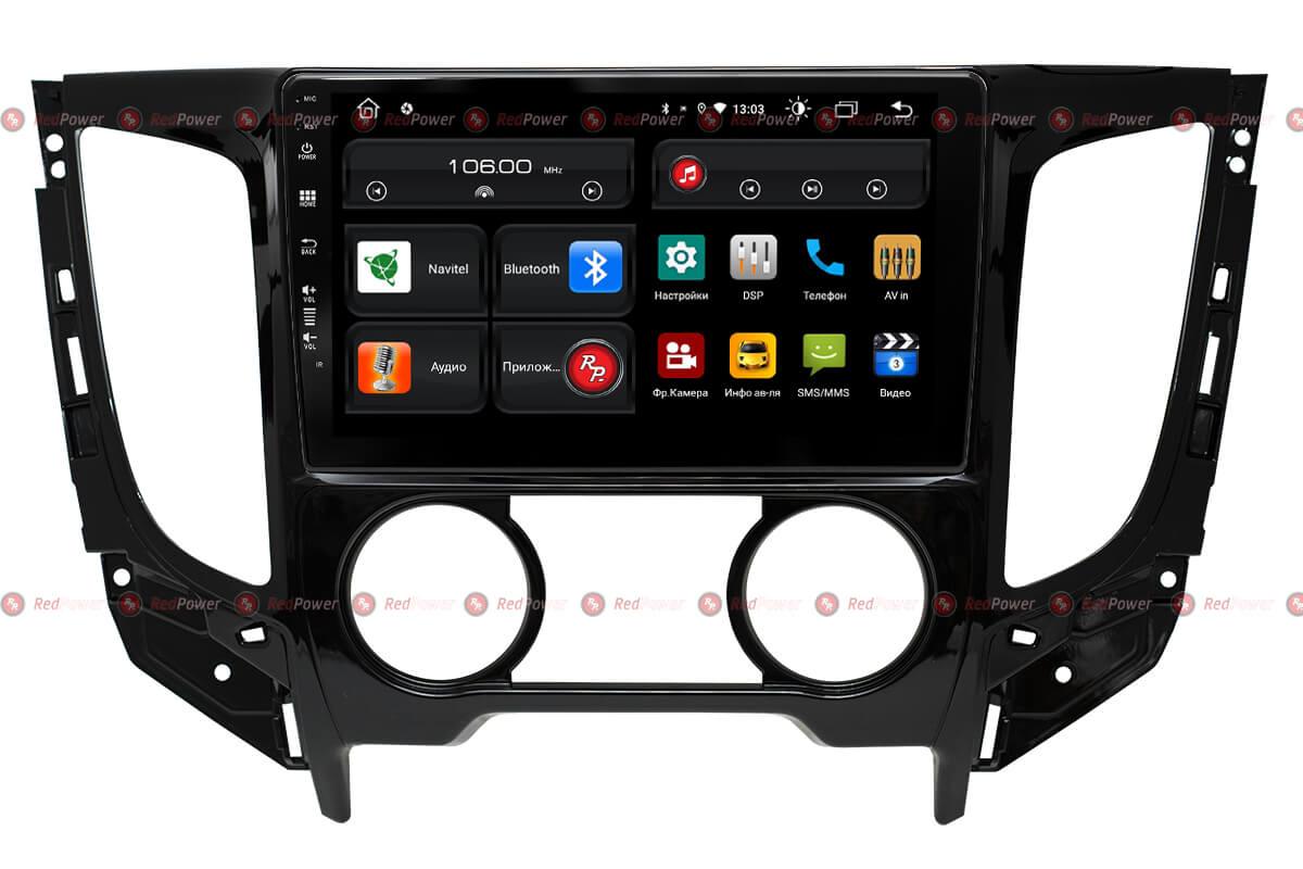 Автомагнитола для Mitsubishi L200, Fiat Fullback (кондиционер) RedPower 61425 (+ Камера заднего вида в подарок!)